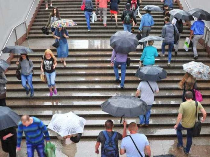 Forecasters predict rain in Moscow