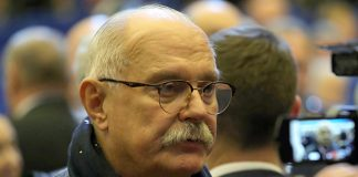 Posner Mikhalkov debate almost in the style of altercation between Solovyov and Utkin
