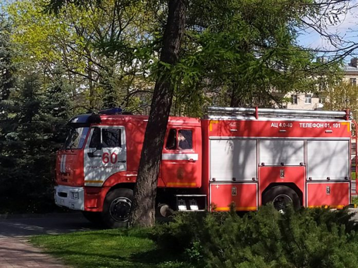 In Belgorod the chemical plant caught fire
