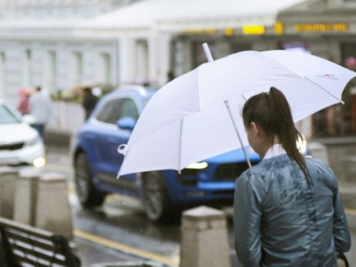 In Moscow — rain and thunderstorm