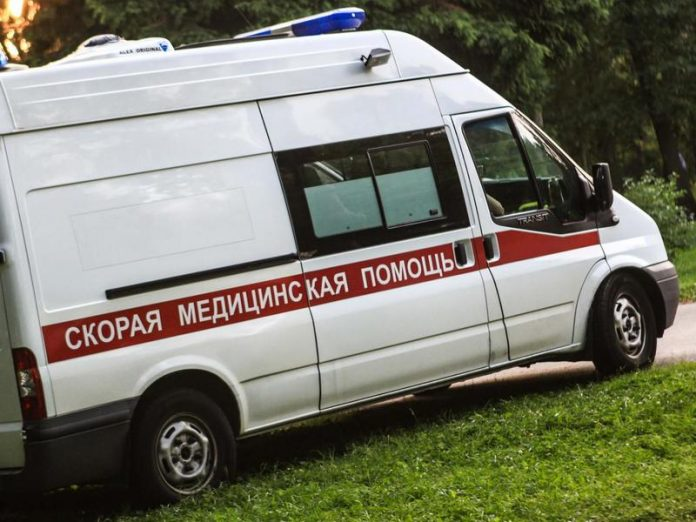 In St. Petersburg month-old baby was hospitalized with serious injuries after being bitten by a domestic dog