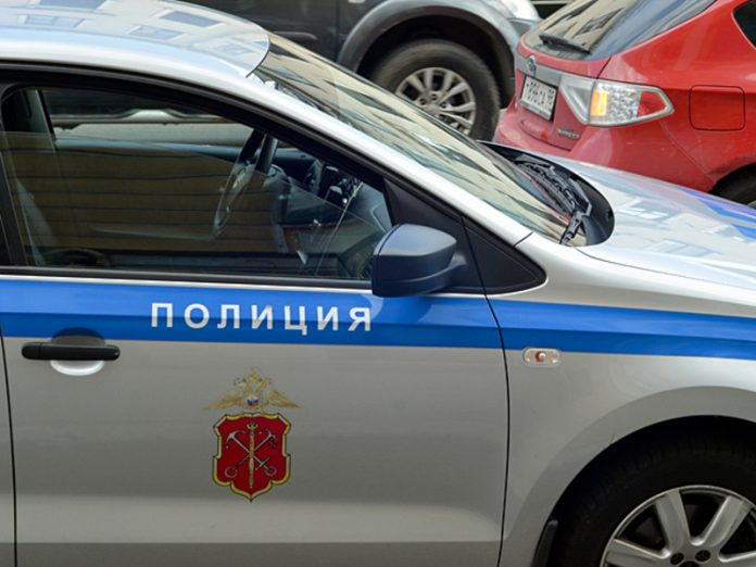 In St. Petersburg two courier had painted obscene words on a police car
