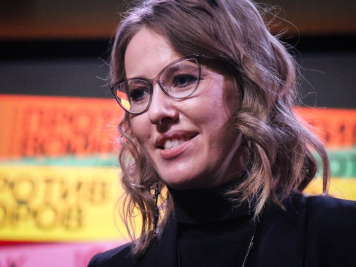 Ksenia Sobchak broke his nose and ended up in the hospital