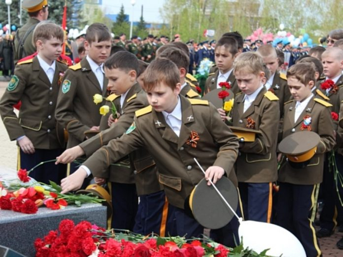 Moscow cadets took part in the Victory parade on red square