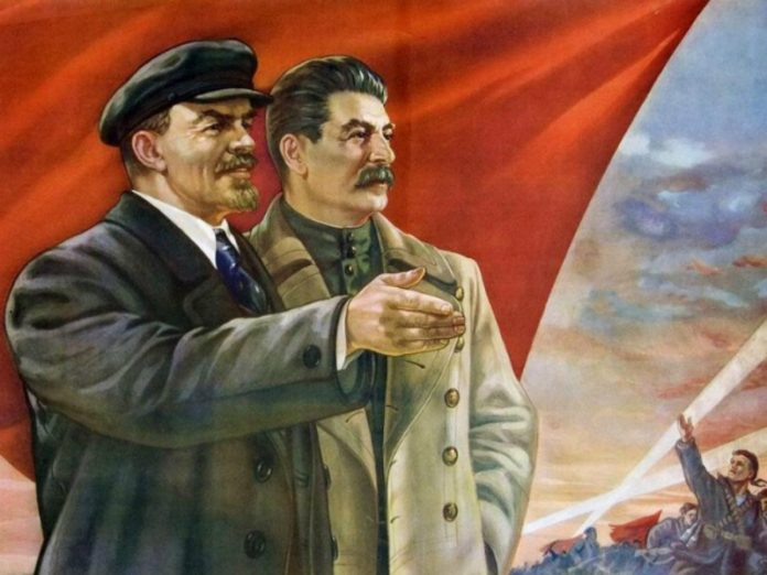 Muscovite killed, hanging a portrait of Stalin