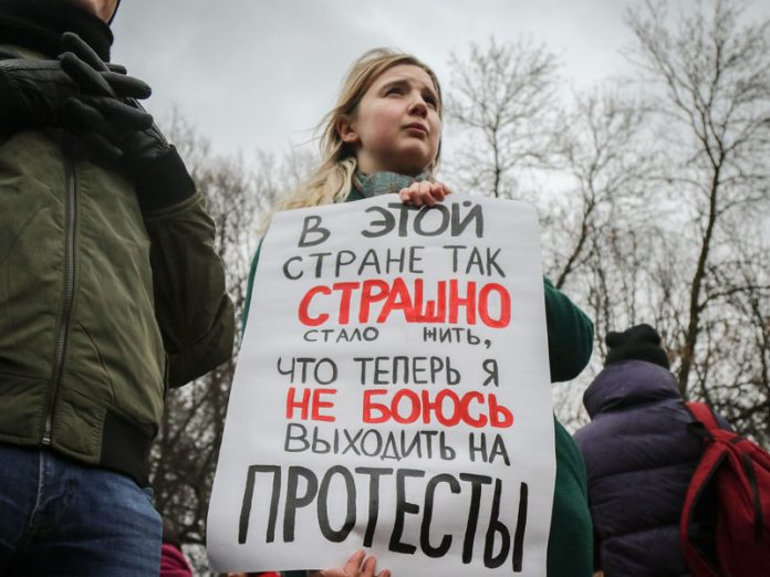 Sociologists have documented the surge of discontent Russians the actions of the authorities