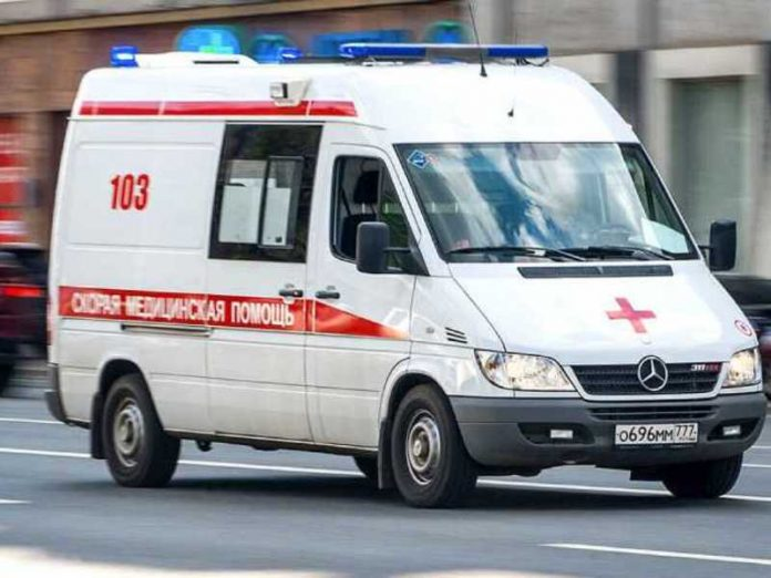 The ambulance hit a girl in Moscow