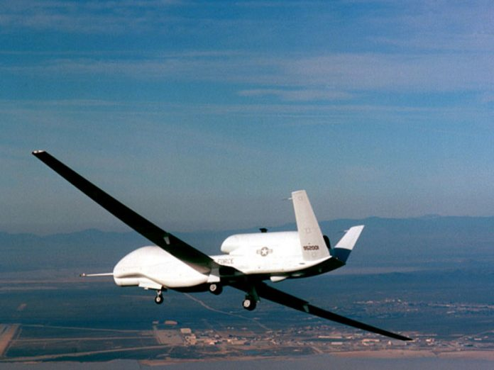 The drone of the U.S. air force flew over the Caucasus, near Russia's borders