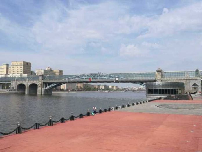 The man was in intensive care after falling from a bridge in Moscow