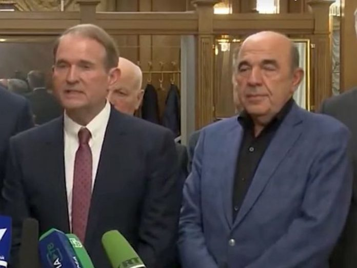 The Prosecutor General of Ukraine opened a case against Medvedchuk and Rabinovich for talks in Moscow