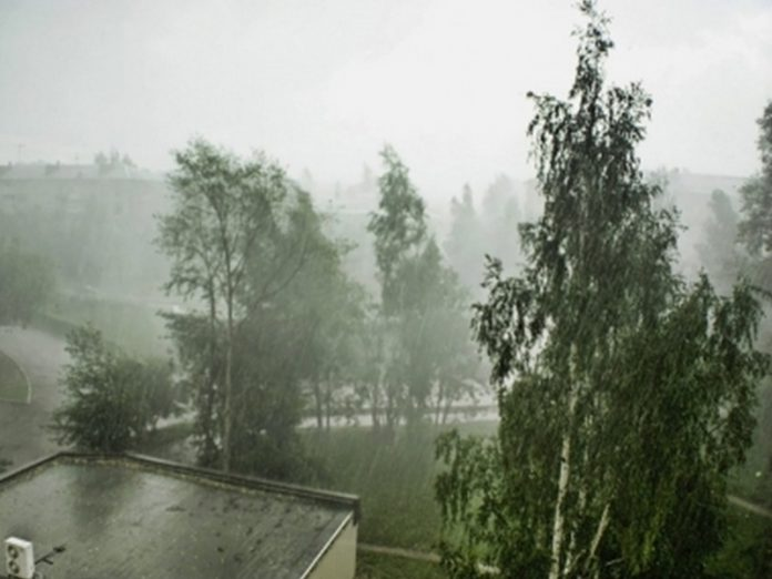 The storm brought to the Petersburg