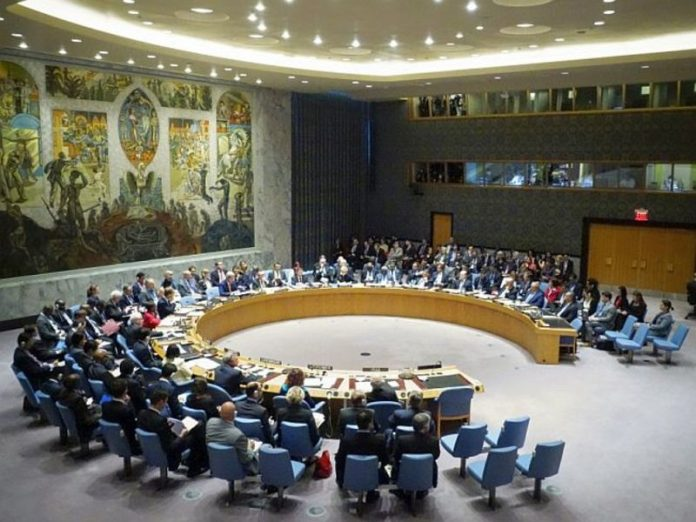 The United States urged the UN security Council to extend the arms embargo against Iran
