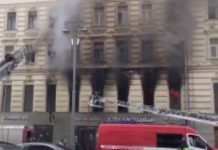 A fire in a historical building on Tverskaya has been localized