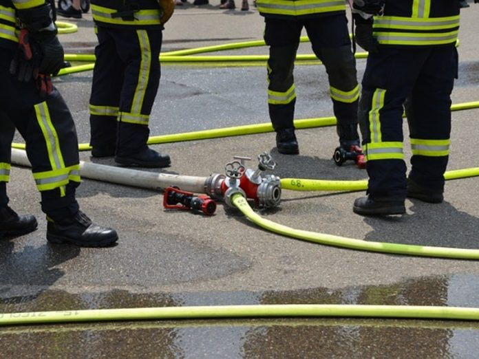 Extinguished a fire in a warehouse in an amusement Park in the West of Moscow