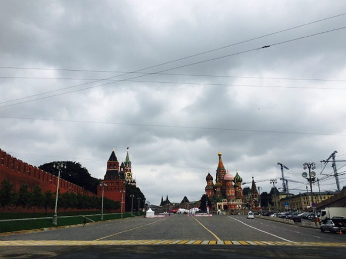 In Moscow — warm but cloudy
