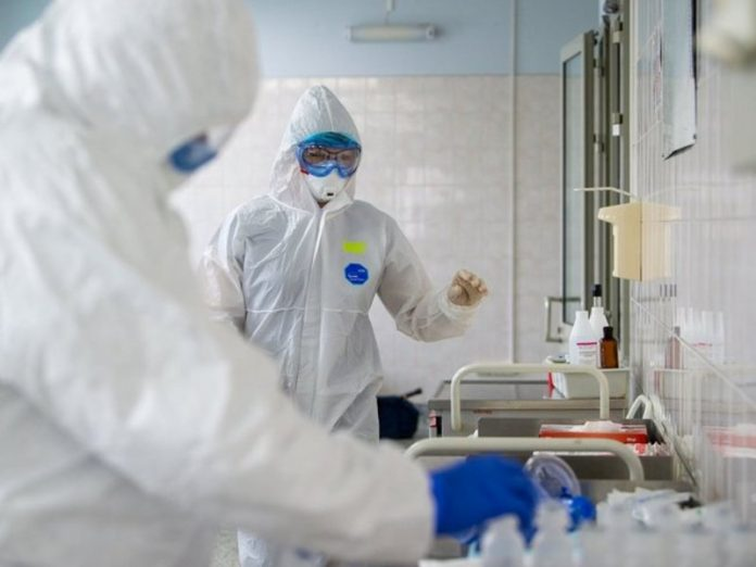 In Moscow the day he died on 14 patients with coronavirus