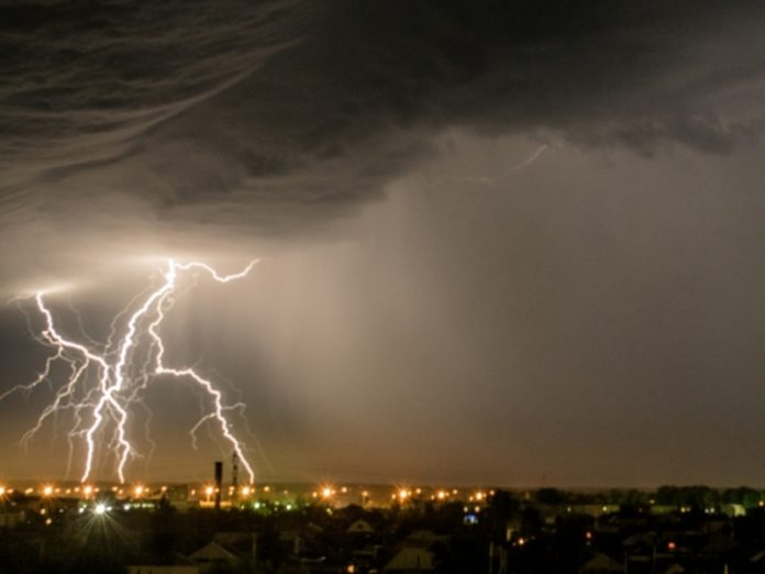 In Moscow two people were struck by lightning