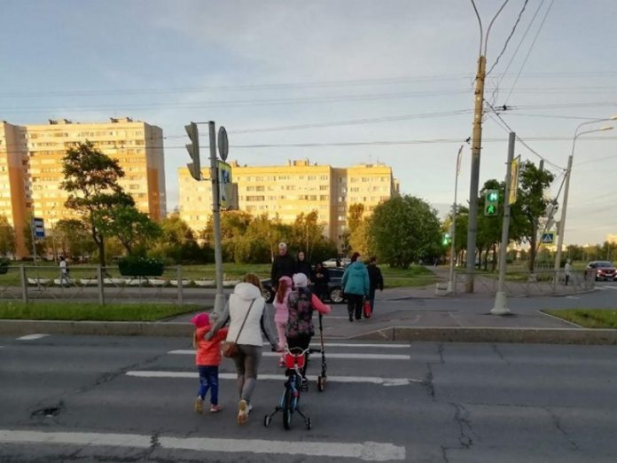 In the Northern capital riding a scooter six-year-old was hit by a car in his yard