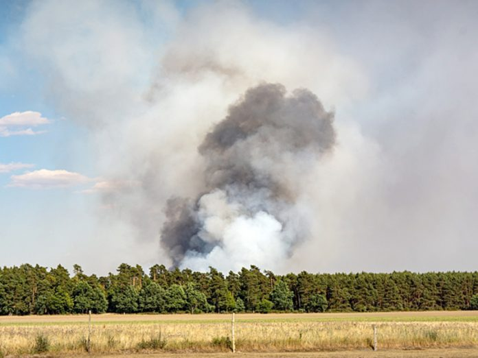 In the Volgograd region the fire spread from the field of housing and engulfed 10 homes and buildings