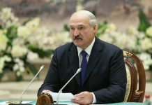 "Lukashenko said the threat of ""disintegration"" of Belarus"