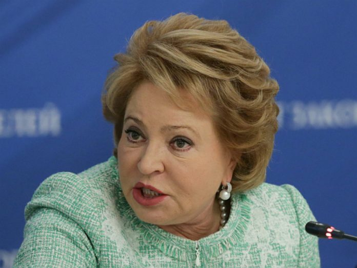 Matvienko has criticized the leadership of the Ministry of industry and trade in the lack of