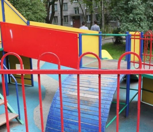 On the Playground in St. Petersburg, a woman beat someone else's child