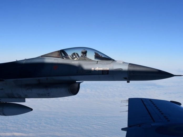 Over the Atlantic the Norwegian fighter jets close to the Russian Tu-142