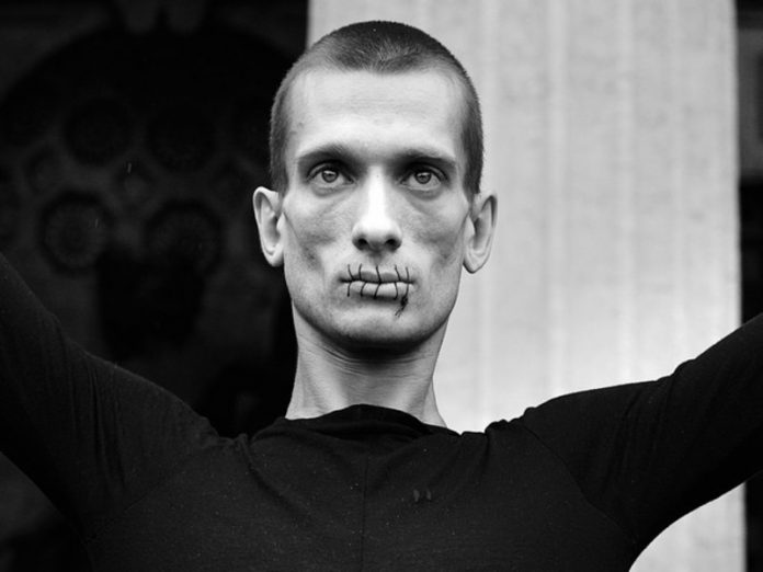 Pavlensky was faced with