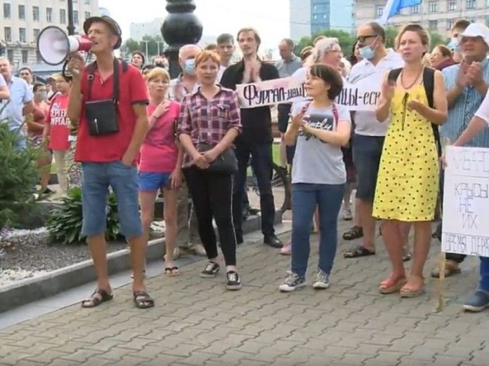 Police of Khabarovsk began to draw up reports against activists of the protest