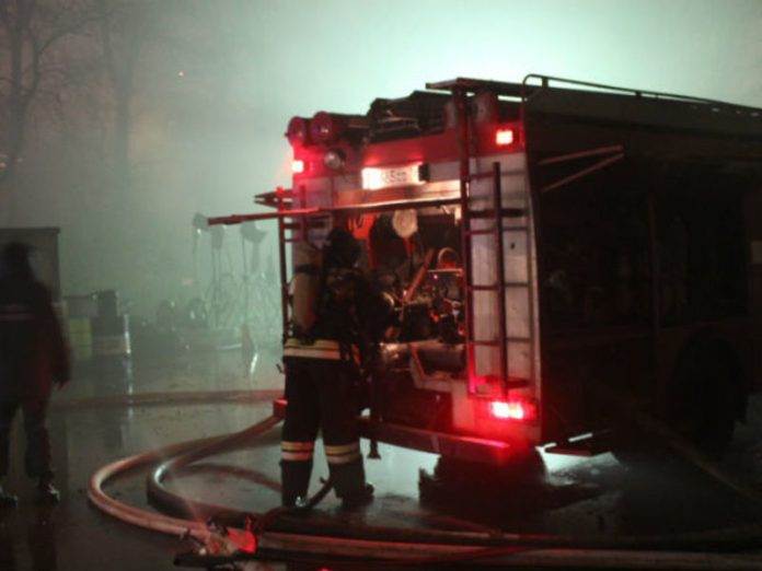 Rescuers extinguished a burning tanker truck in St. Petersburg