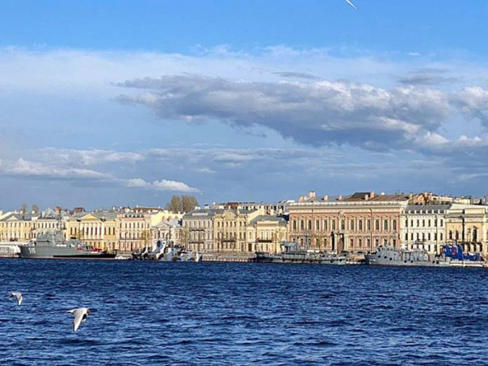 St Petersburg on Friday promised rainy weather