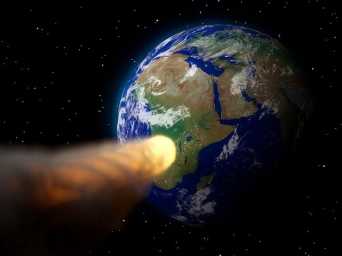 The Earth is approaching a large asteroid