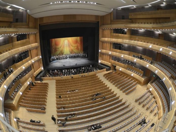 The Mariinsky theatre was the first theatre in St. Petersburg, opened after the pandemic