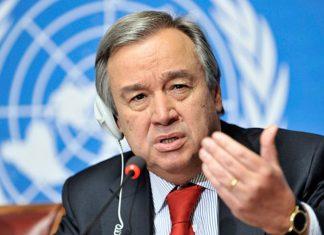 The UN Secretary General called for a cease-fire on the Armenian-Azerbaijani border