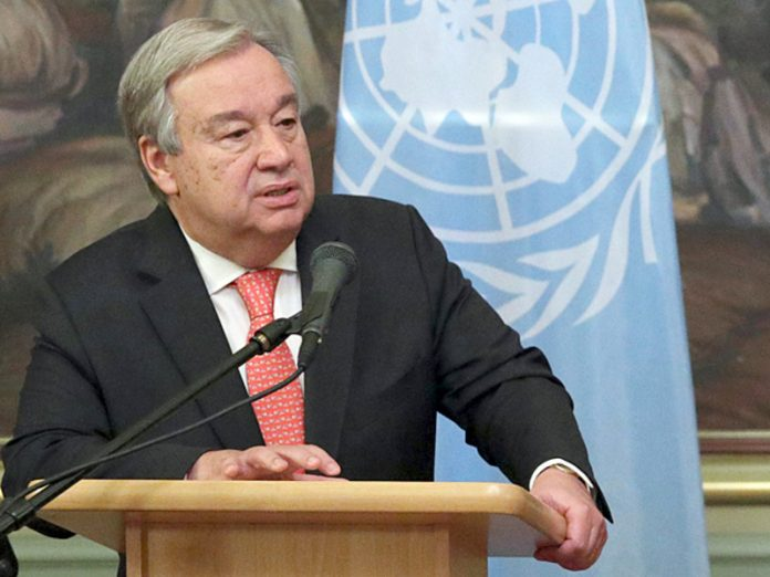 The UN Secretary General was reminded of growing inequality and called for an update of the social contract