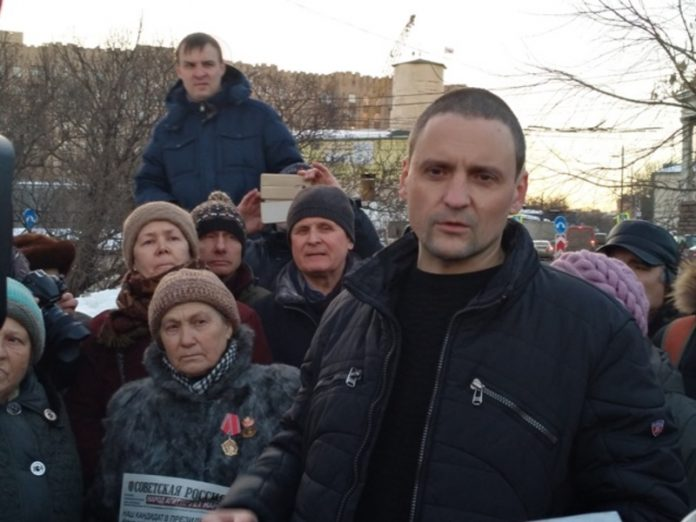 Udaltsov was taken to the police and left until morning
