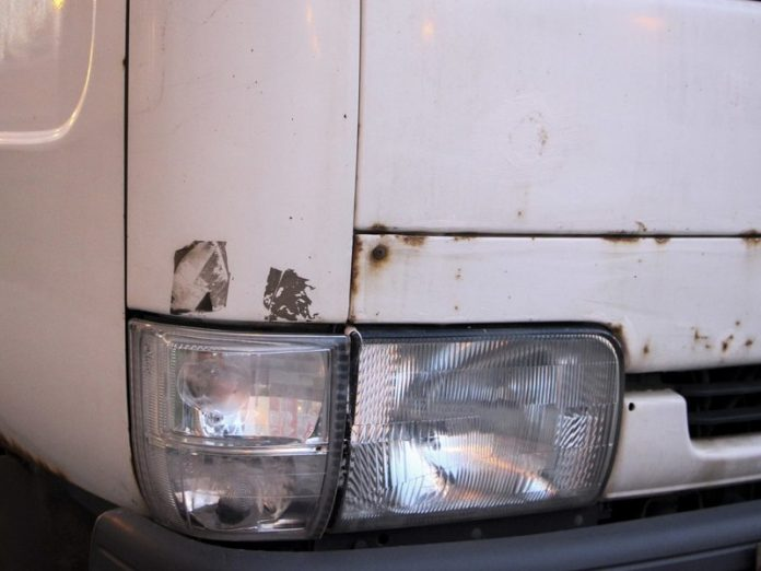 Under Tosno the pedestrian ran across the road and got hit by a truck Foton