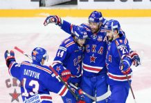 "Hockey players SKA have crushed ""the locomotive"" with the score 6:0"