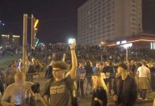 In Minsk, protesters shot, Grodno — mass arrests