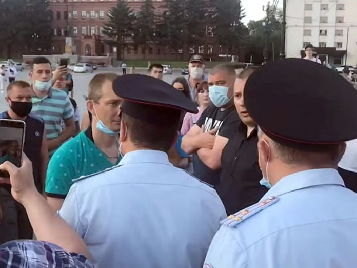 In the capital rally of solidarity with the Khabarovsk detention began