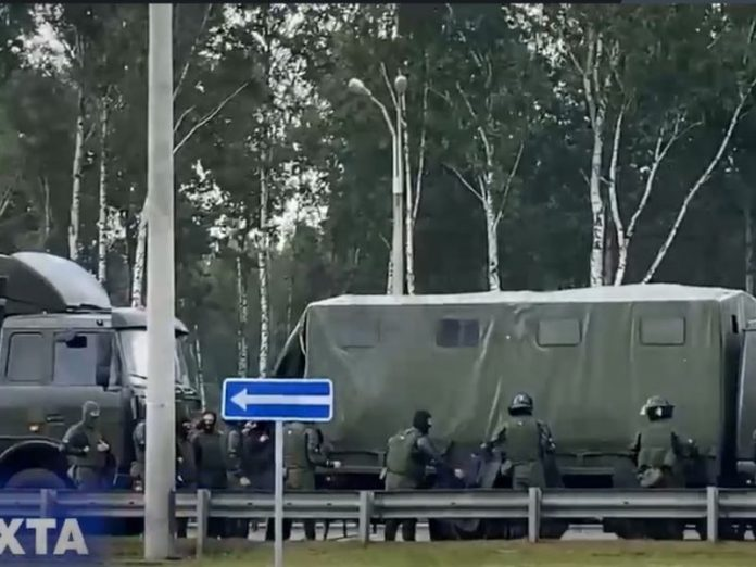 Media: To Lukashenko's residence charge for special equipment (video)