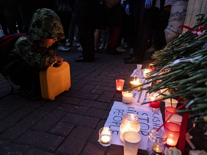 Natural action of memory was held in Minsk: the place of death of protester strewn with flowers