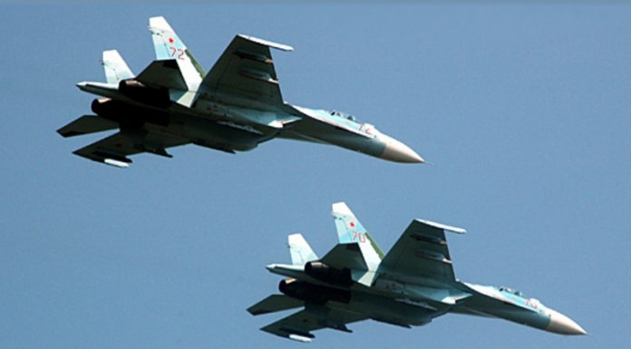 Russian fighter intercepted us plane over the Black sea