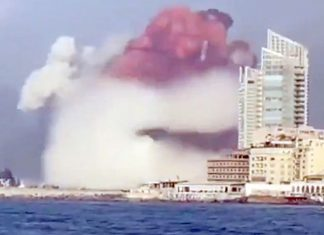 The blast damaged half of Beirut and killed 30 people, was only 200 times weaker than the Hiroshima (video)