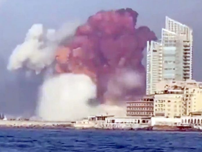 The Lebanese authorities declared the Beirut disaster area
