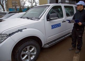 The OSCE counted 225 of ceasefire violations in the Donbass per week